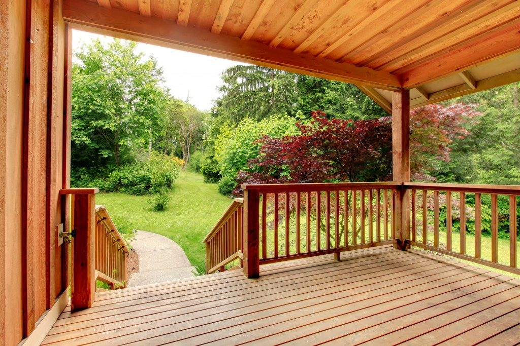 Deck facing scenery outdoors