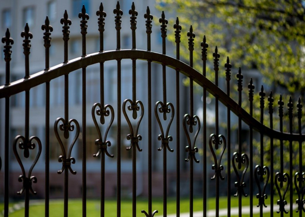 home black decorative fence