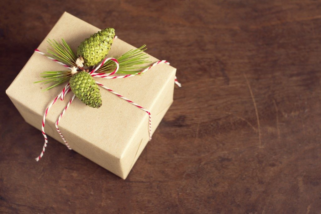 handcraft gift boxes gift box with pinecone and pine branch