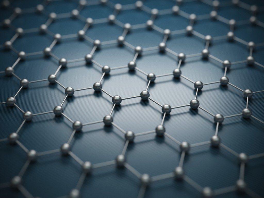 Graphene molecular grid, graphene atomic structure concept
