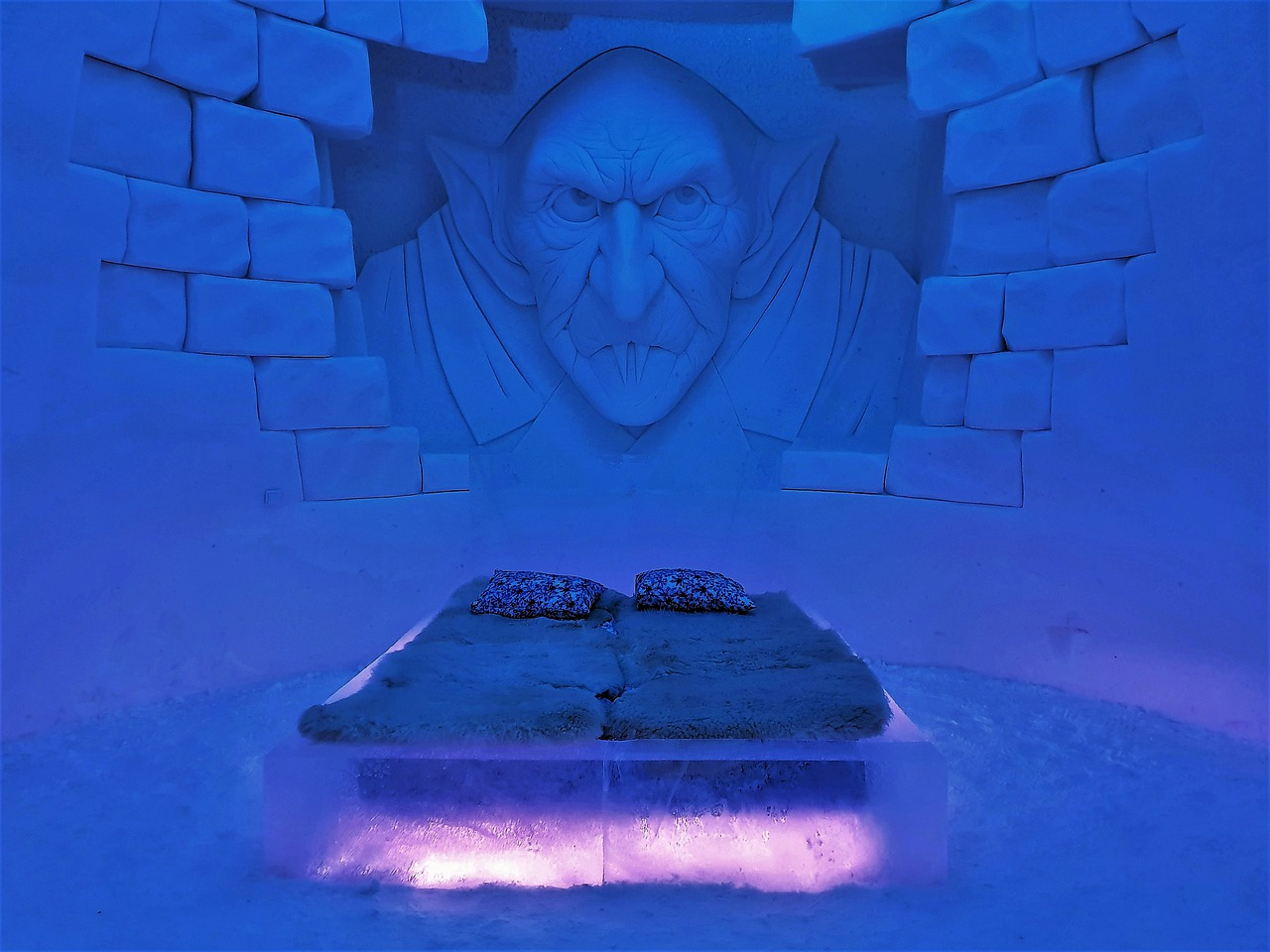 room made of ice