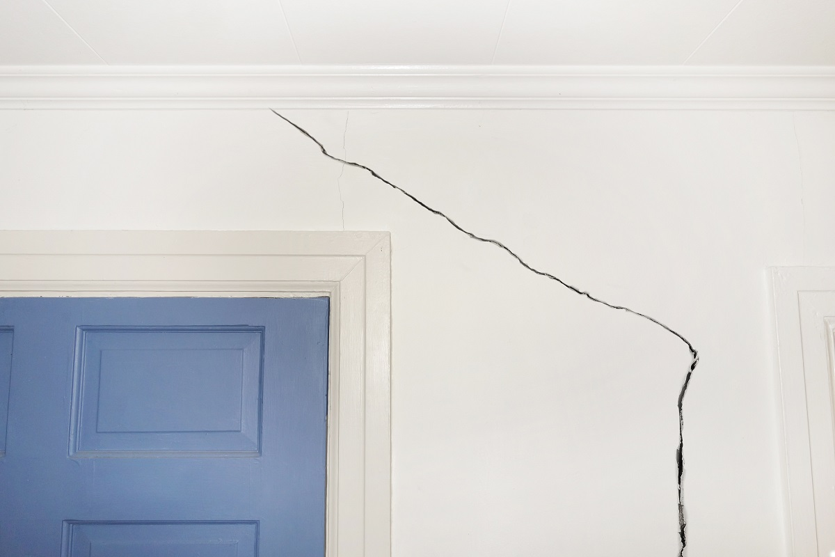 wall indicating structural damage