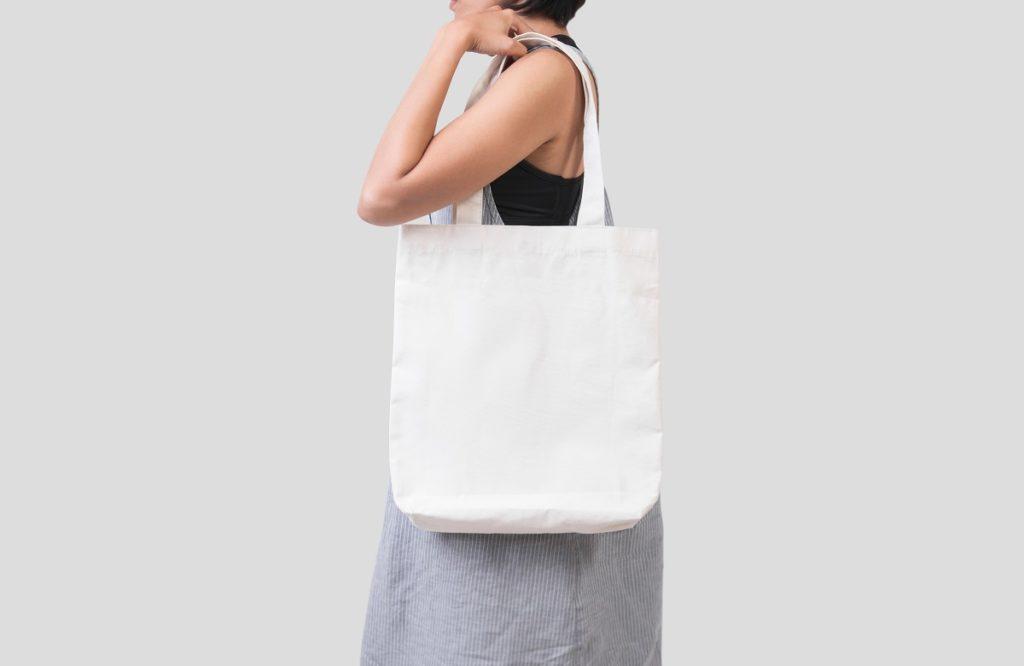 woman using an eco bag