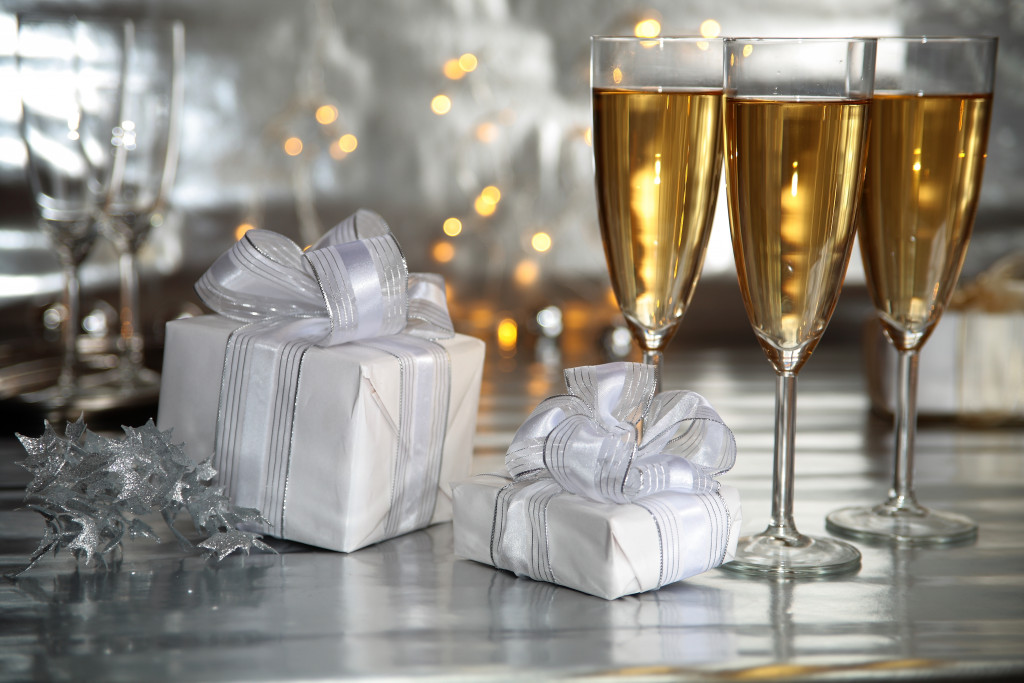 gifts and drinks